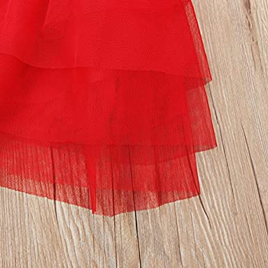 ONES Baby Kid Girls Sleeveless Striped Stars Summer Ruffle Tutu Mini Dress Outfits