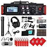 TASCAM 6-Track Linear PCM Digital Multitrack Audio Recorder/Mixer for DSLR Camera, Condenser Microphone, Mixing Headphones, 64GB Micro SD Card, 3 pcs Microfiber Cloth and Accessory Bundle (DR-701D)