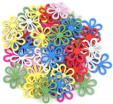 Crystallove Mixed Color Big Flower Shape Buttons Lot for Sewing Fasteners Scrapbooking and DIY Handmade Craft (big - Flower Button