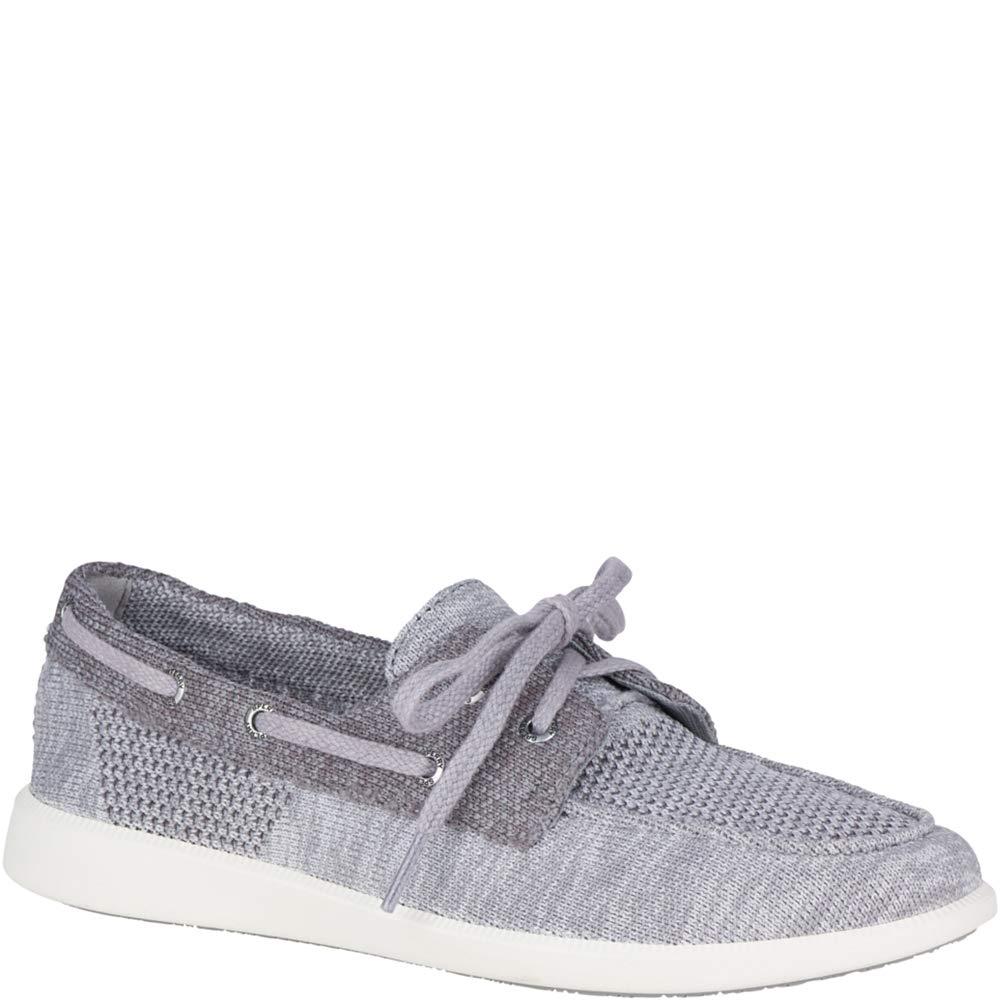 Sperry Top-Sider Oasis Dock Knit Boat Shoe Women 5 Grey