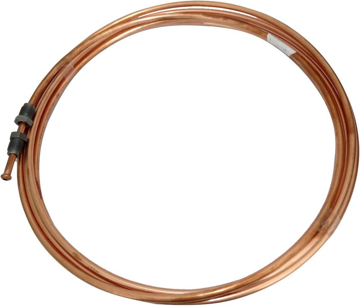 220cm Tubo per freno in rame /Ø4.76mm con raccordi M10x1//M10x1 AERZETIX