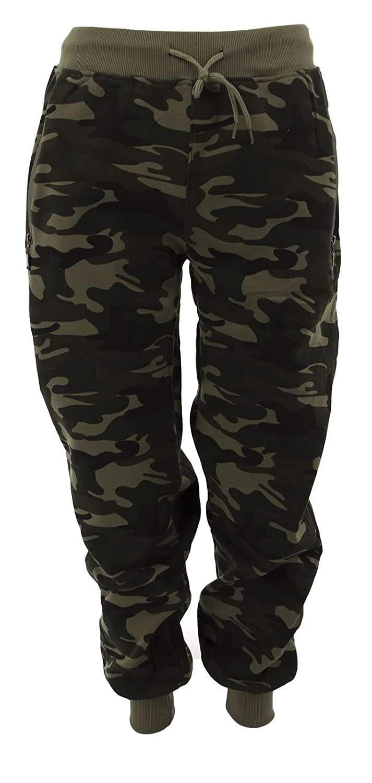 Netgozio Pantalone Uomo Tuta Sottile Con Zip Mimetico Militare Woodland Sportivo Nuovo 201030