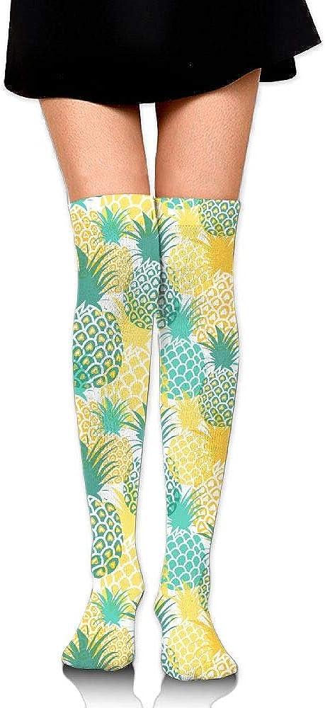 Womens//Girls Pineapples Seamless Pattern Casual Socks Yoga Socks Over The Knee High Socks 23.6