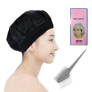 0d47261d8db5 Betterhill Thermal Heat Hair Cap Micro Cap Cheveux Au Micro-ondes  Imperméable Bonnet Chapeau Douche