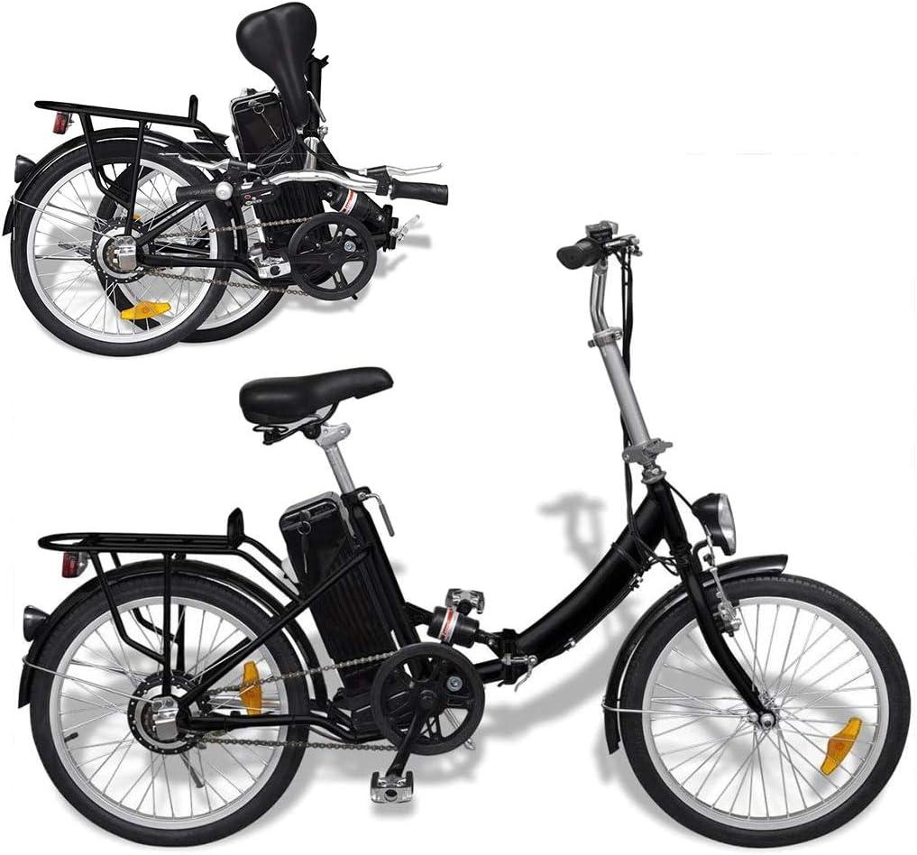 Autoshoppingcenter Bicicleta Eléctrica Plegable Retro 20 Pulgadas 250W para Adultos Hombres Mujeres con Bateria de Litio Pantalla LED Frenos Delantero y Traseo 3 Velocidades[EU Stock]