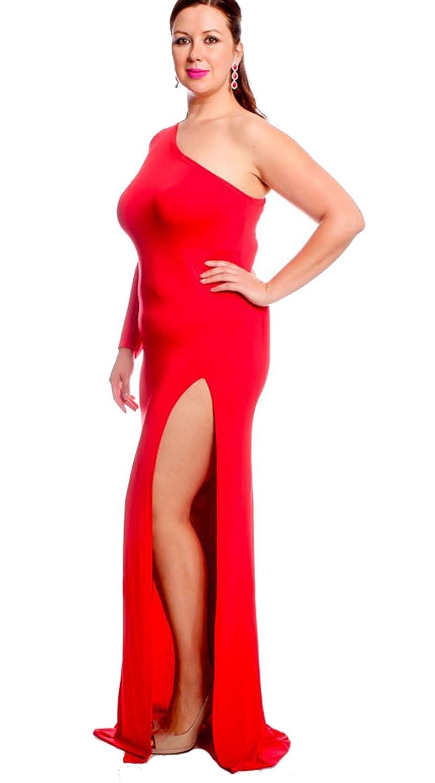Amazon Leezeshaw Womens Sexy Plus Size One Shoulder Long Sleeve