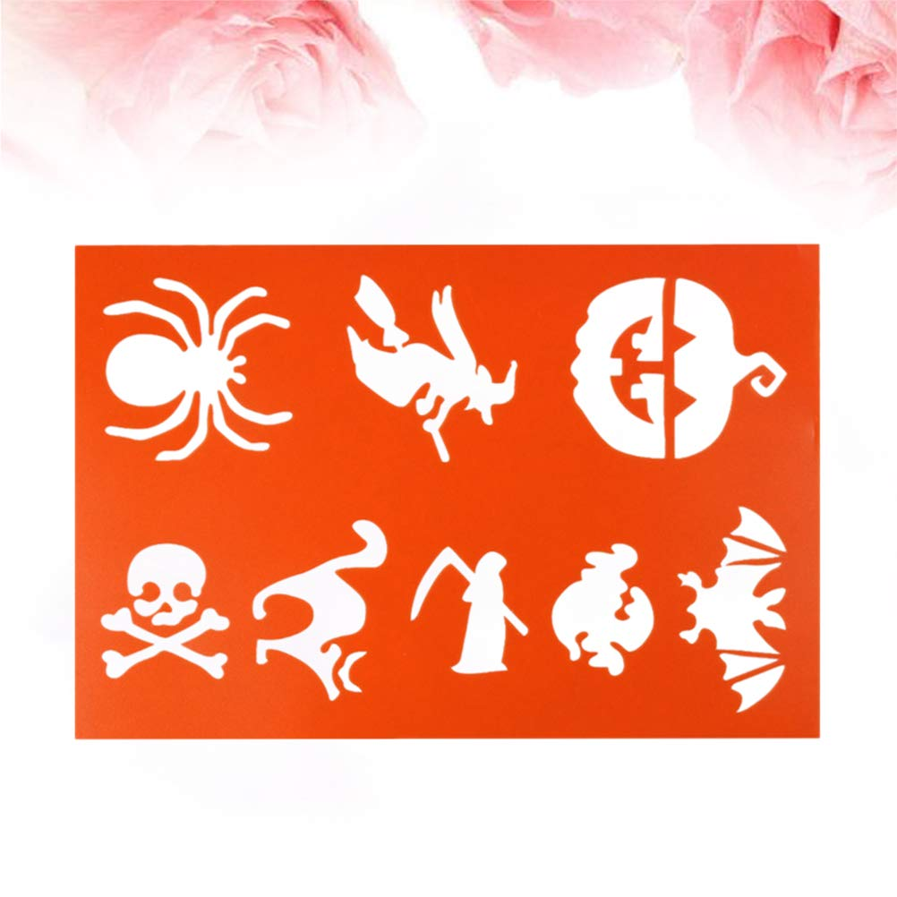 Drawing Templates   Healifty A4 Halloween Witch Pumpkin Spider Drawing Templates