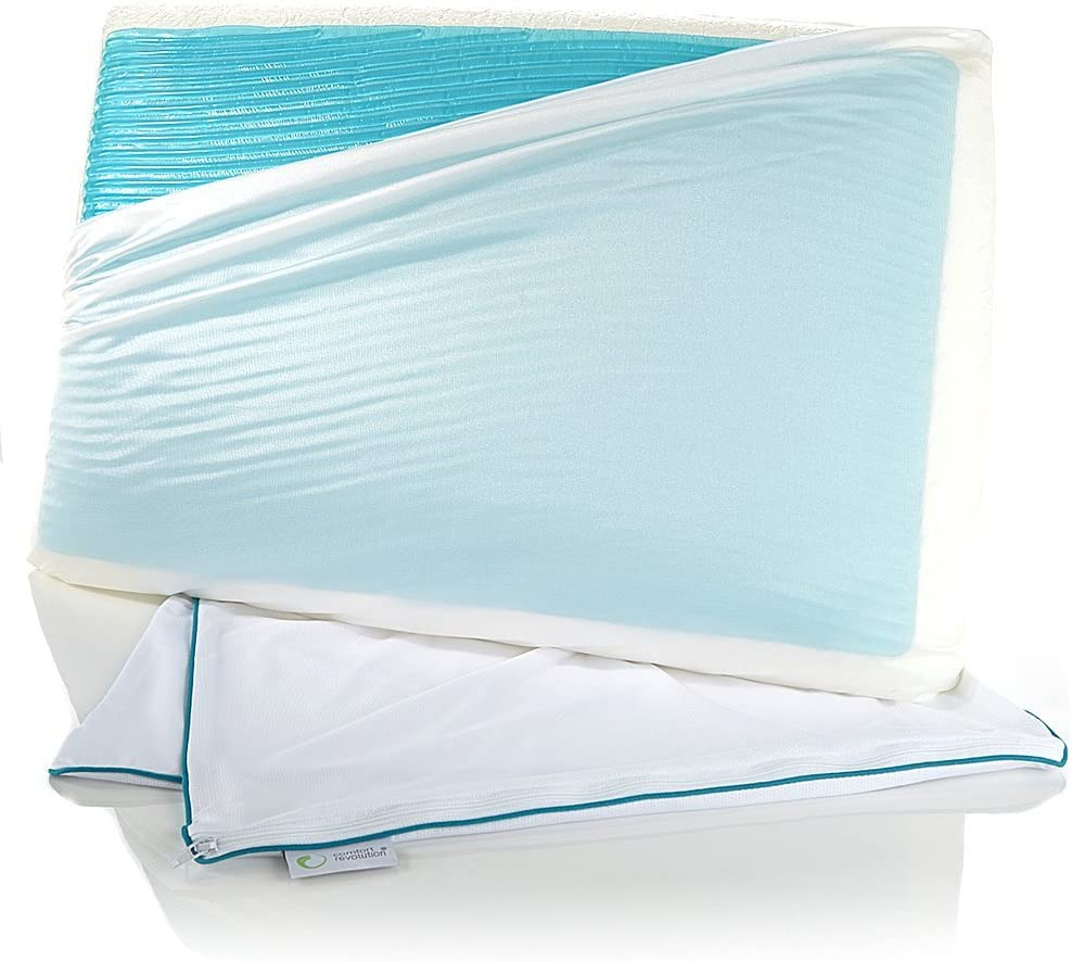 Comfort Revolution 199-0A Memory Foam & Hydraluxe Gel Bed Pillow