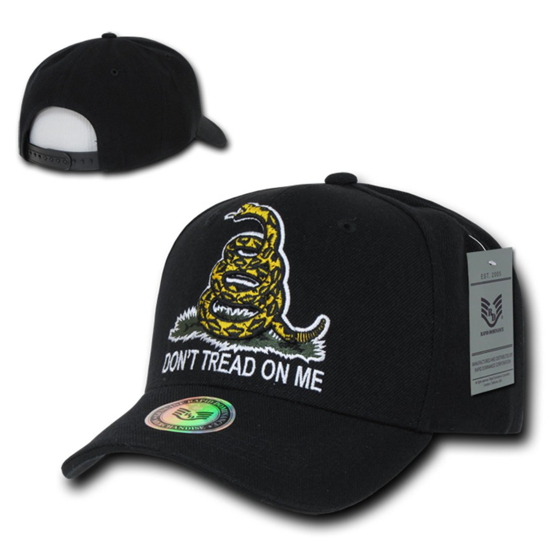 d29d7054 Rapid Dom Dont Tread On Me Gadsden Flag Baseball Caps A02 Black: Amazon.ca:  Clothing & Accessories