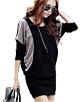 Zehui Women's Shirt Dress US8-10/UK10-12/EU38-40 Black