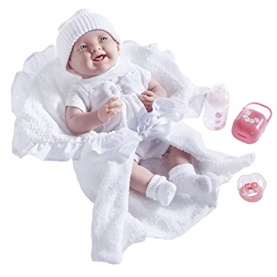 JC Toys –La Newborn Soft Body Realistic Baby Doll Deluxe Gift Set with Bunting & Accessories, White: Toys & Games