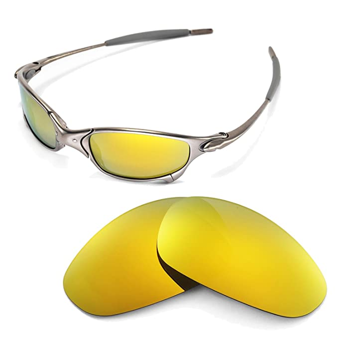 8eccad9e81 Walleva Replacement Lenses for Oakley Juliet Sunglasses - Multiple Options  Available (24K Gold Mirror Coated