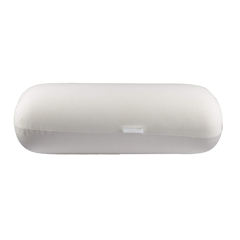TheホワイトWillowプレミアム品質メモリーフォームラウンド快適Bolster枕ポリエステルカバーライト重量サポートクッション8