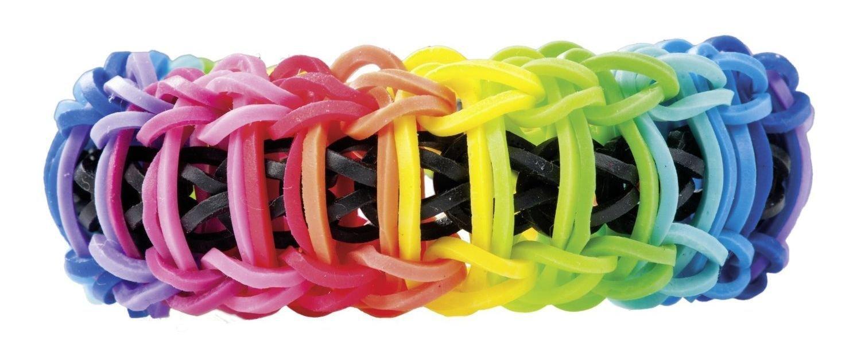 600 B/änder mit 24 C Original Gummib/änder Rainbow Loom 20815 karamell Clips