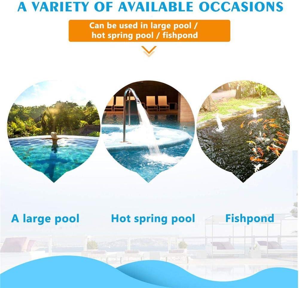 Sliveal Pool Net Leaf Skimmer Red Recogehojas Recogehojas de Superficie Recoge Hojas para Piscinas Recogehojas para Piscinas Desmontable con 5 Varillas De Aluminio opportune