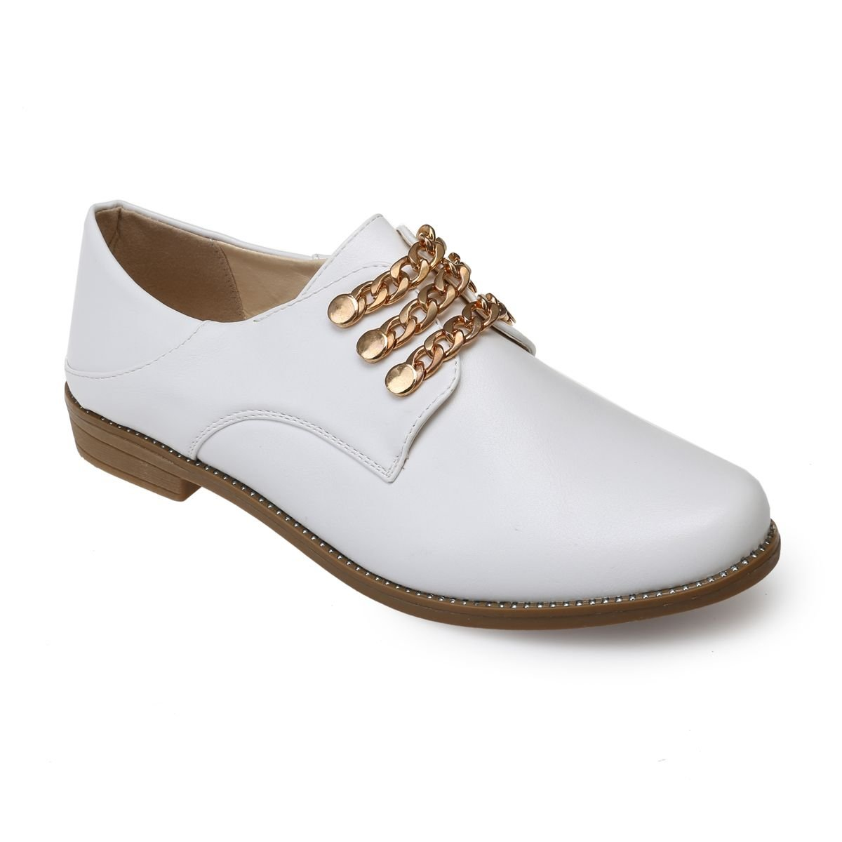 La Modeuse - Derbies - en 19123 Simili Cuir Cuir Blanc 001b1f9 - fast-weightloss-diet.space