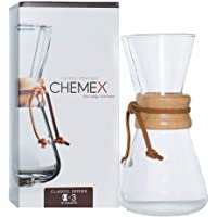 Chemex Classic Series, Pour-Over Glass Coffeemaker, 3-5 oz. Cup - Exclusive Packaging