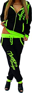 Tuta da donna con pantaloni e felpa 'The Power', nero-verde, XL (fällt aus wie 42) XL (fällt aus wie 42) No-Name