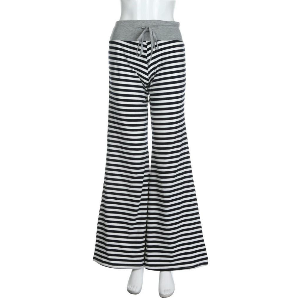 U.Expectating Pants Fashion Womens American Flag Drawstring Wide Leg Pants Leggings Loose Trousers