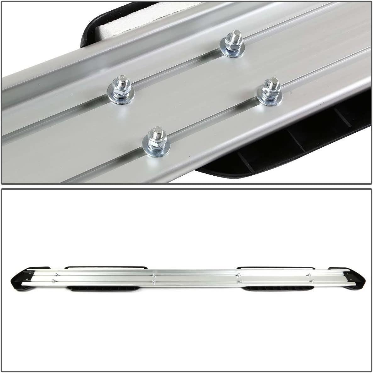 For 07-18 Tundra 2nd Gen Crewmax Pair of 5.25 inches Brushed OE Style Side Nerf Step Bar Running Boards