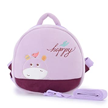Amazon.com   Me Too Toddler Purple Hippo Girls Safety Harness Bag 9.4  inches (Purple)   Baby f8af48d1ce72a