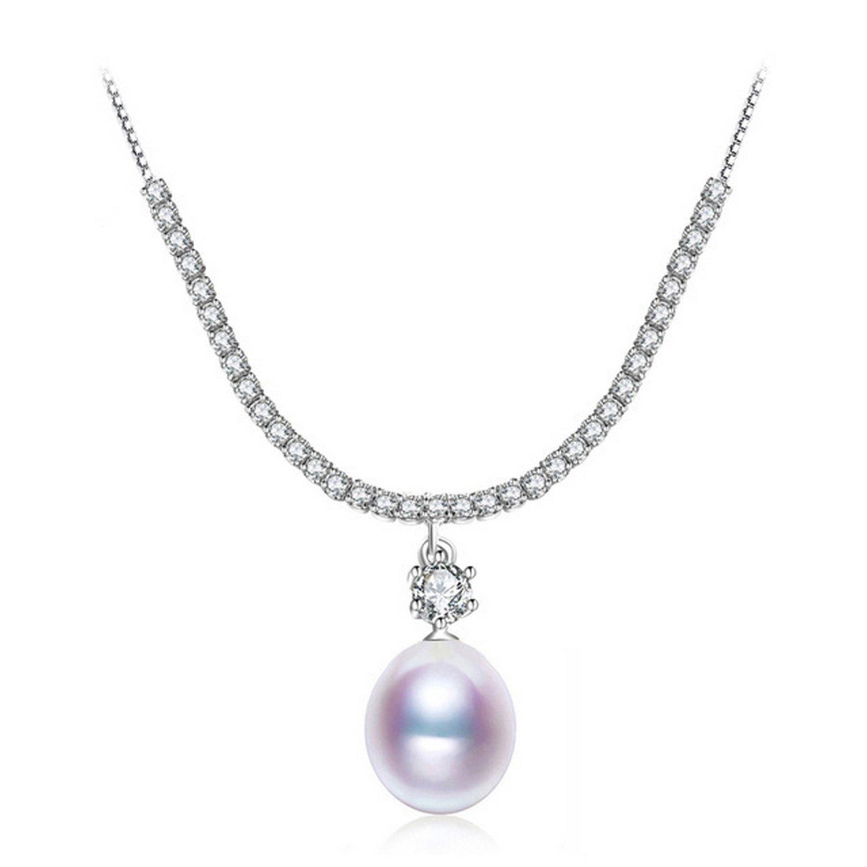 MMC Pearl Genuine Pearl Silver Pendants Necklaces