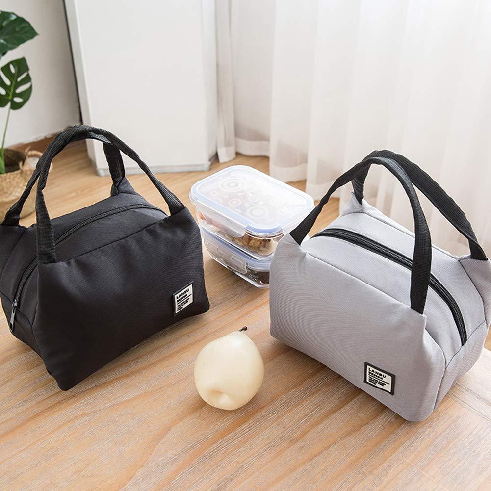 comida guarder/ía para la escuela poli/éster omufipw Bolsa t/érmica aislante para almuerzo de picnic blanco 18 * 23 cm