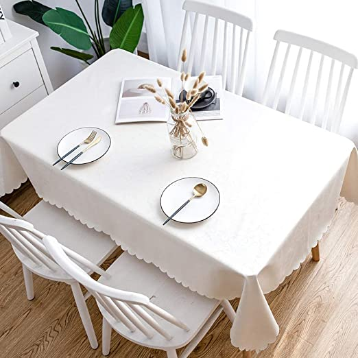 CFWL Mantel Impermeable desechable y desechable, Mantel doméstico, Beige, Blanco, 90 x 135 cm, Mantel Redondo Blanco, algodón, Mantel Cuadrado: Amazon.es: Hogar