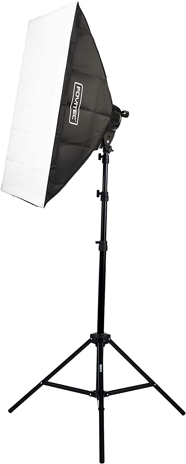 1-Light 1600W Fluorescent Lighting Kit for Photo /& Video with 24x36 Softbox /& Stand Fovitec