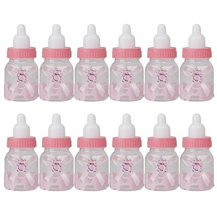 aerwo recuerdo de la fiesta de bebé ducha favor caja rellenables botella Mini Candy caja de