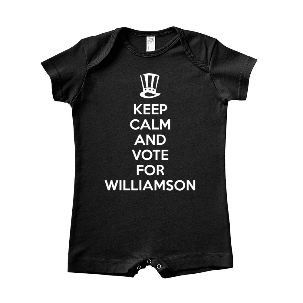 Mashed Clothing Keep Calm /& Vote for Williamson Presidential Election 2020 Baby Romper