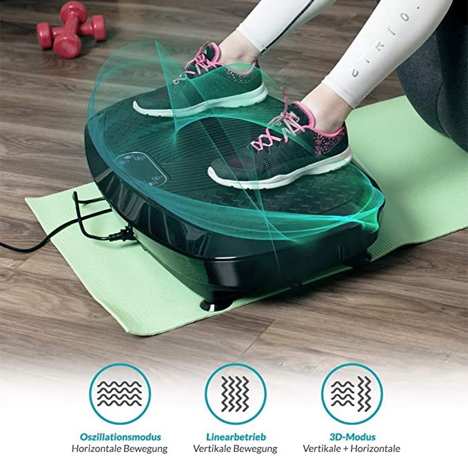 Bluefin Fitness Dual-Motor 3D VibrationsplatteExtra Große Anti-Rutsch-Oberflä