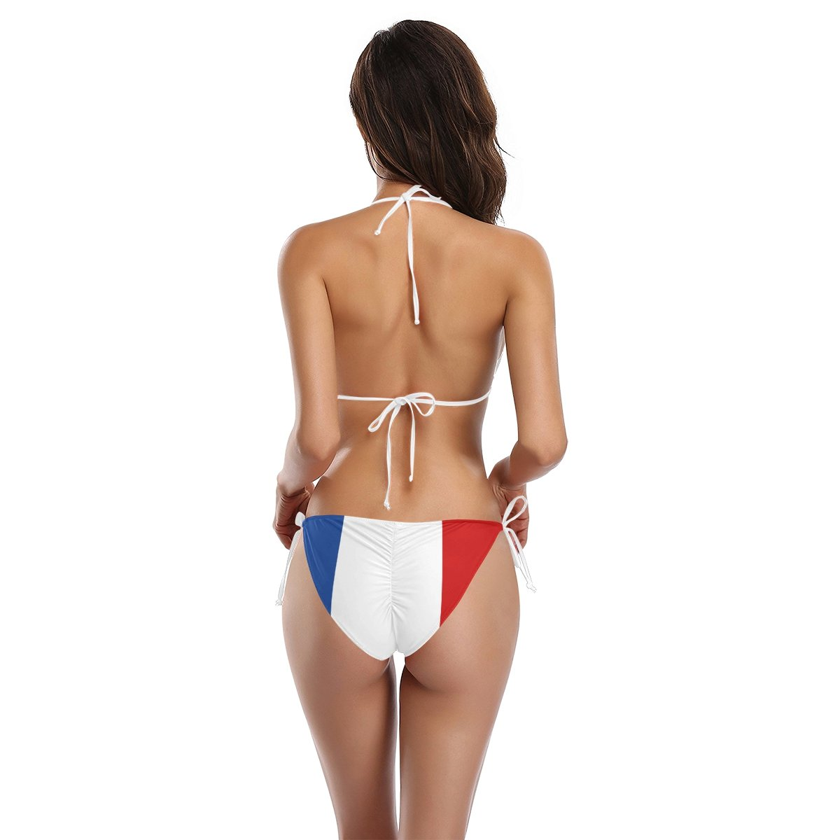 b16f4e18d64 Amazon.com: Naanle France Flag Patriotic Icon Sexy Two Piece Bikini  Swimsuit Swimwear Set for Women: Clothing