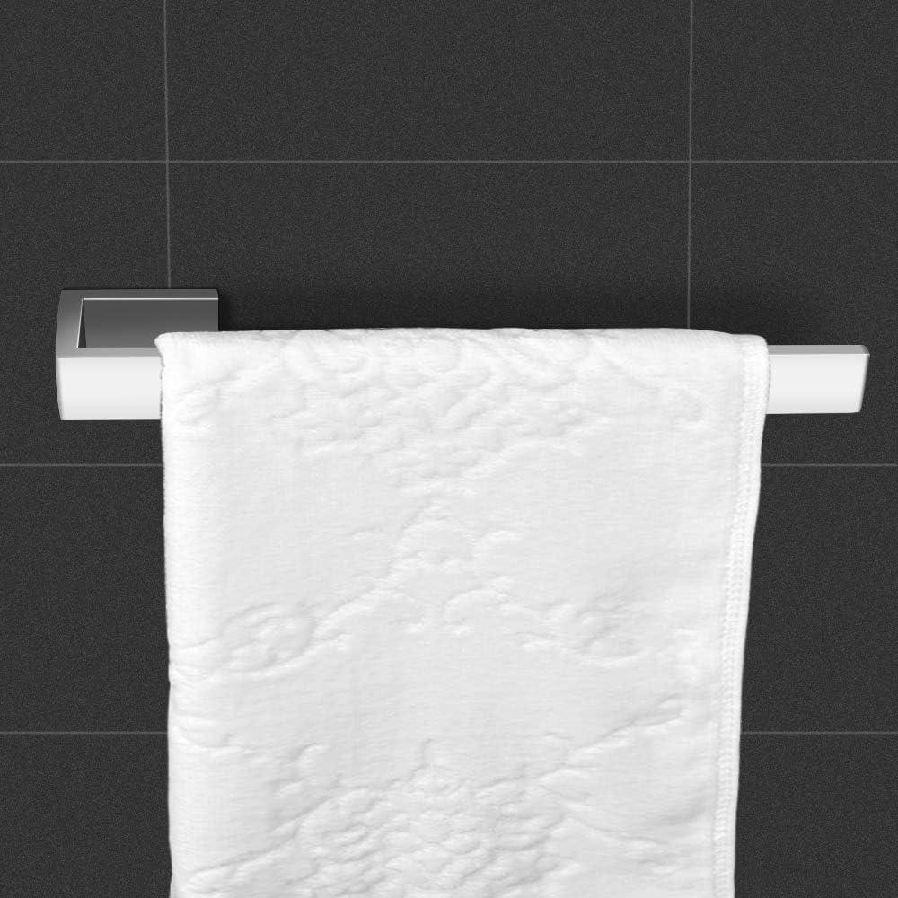 Chrom Edelstahl Handtuchstange Badetuchhalter Wandmontage Lolypot Handtuchhalter Badetuchstange 35cm f/ür Bad und K/üche