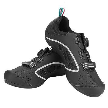 Tbest Zapatillas de Ciclismo de Bicicleta de Carretera de Montaña,1 Par Calzado de Ciclismo Transpirable Zapatillas de Ciclismo Antideslizantes MTB para ...