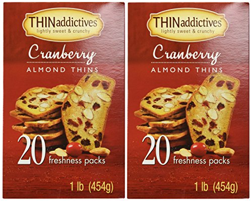 Thins Almond (Thin Addictives Cranberry Almond Thins 20 Freshness Packs 1 Lb. Pack of 2))
