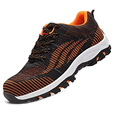 736e63997a315 SUADEEX Womens Mens Safety Shoes Steel Toe Cap Work Shoes Trainers Flyknit  Breathable Lightweight Ankle Hiking Shoes Sport Sneaker