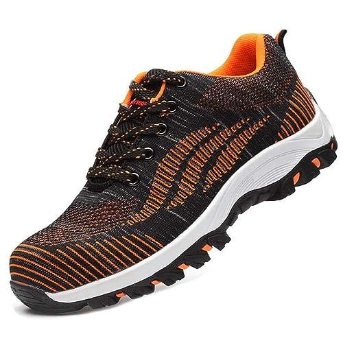SUADEEX Mujer Hombre Zapatillas de Seguridad Deportivos con Puntera de Acero S3 Zapatos de Trabajo Entrenador Unisex Zapatillas de Senderismo: Amazon.es: ...