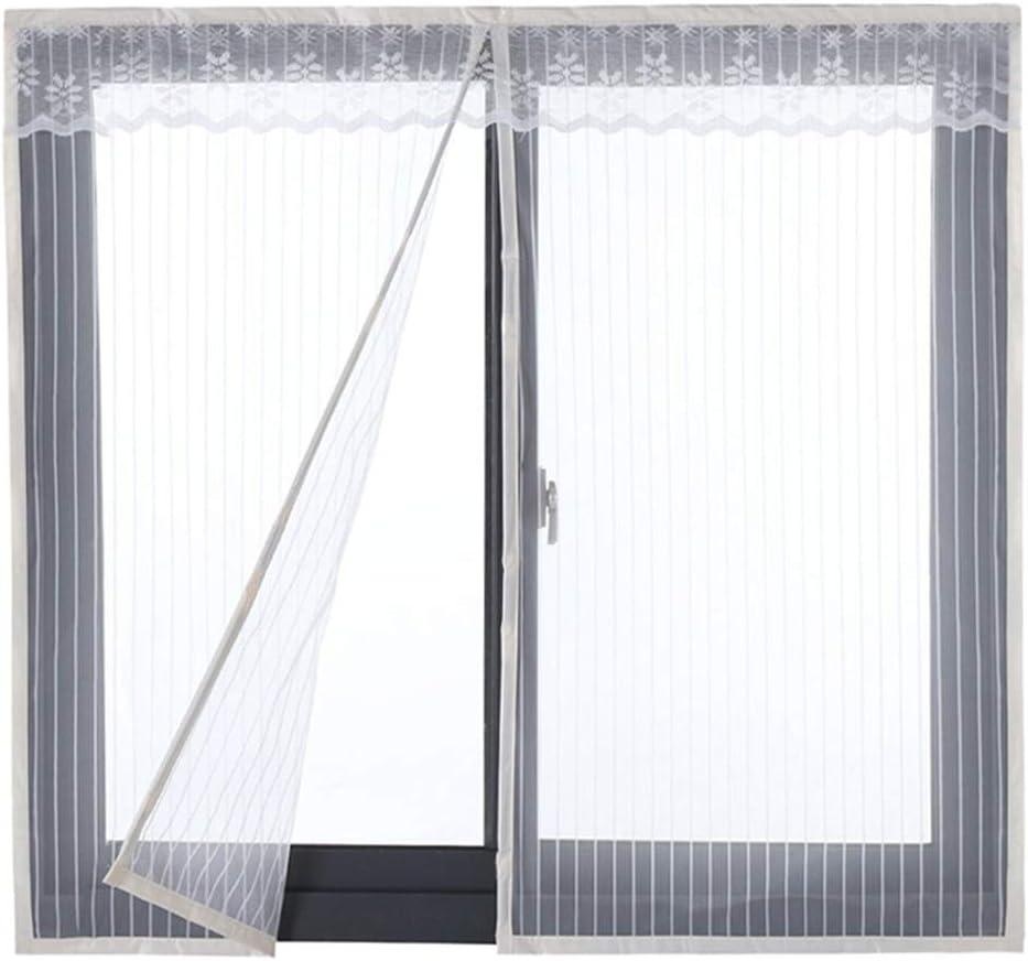 HTDG Mosquitera Ventana Blanca Magnetica Ajustable Adhesiva,Mosquiteras para Ventanas A Medida,Aluminio,Exterior,Sin Perforaciones,Mosquitera Automática,120x110cm(47x43inch): Amazon.es: Hogar