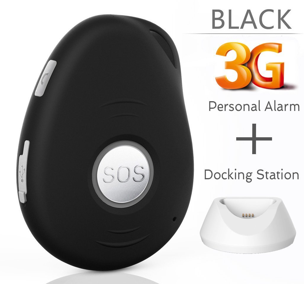 3G VisionOne GPS Tracker / Personal Alarm & Charging Dock Bundle -SOS Alarm, 2-way Talk, Fall Detection, Spy Mode, Geo-fence, Speed Alert, Real-time GPS Tracking Device, Kids, Elderly, Personal, Drone by VisionOneGPS