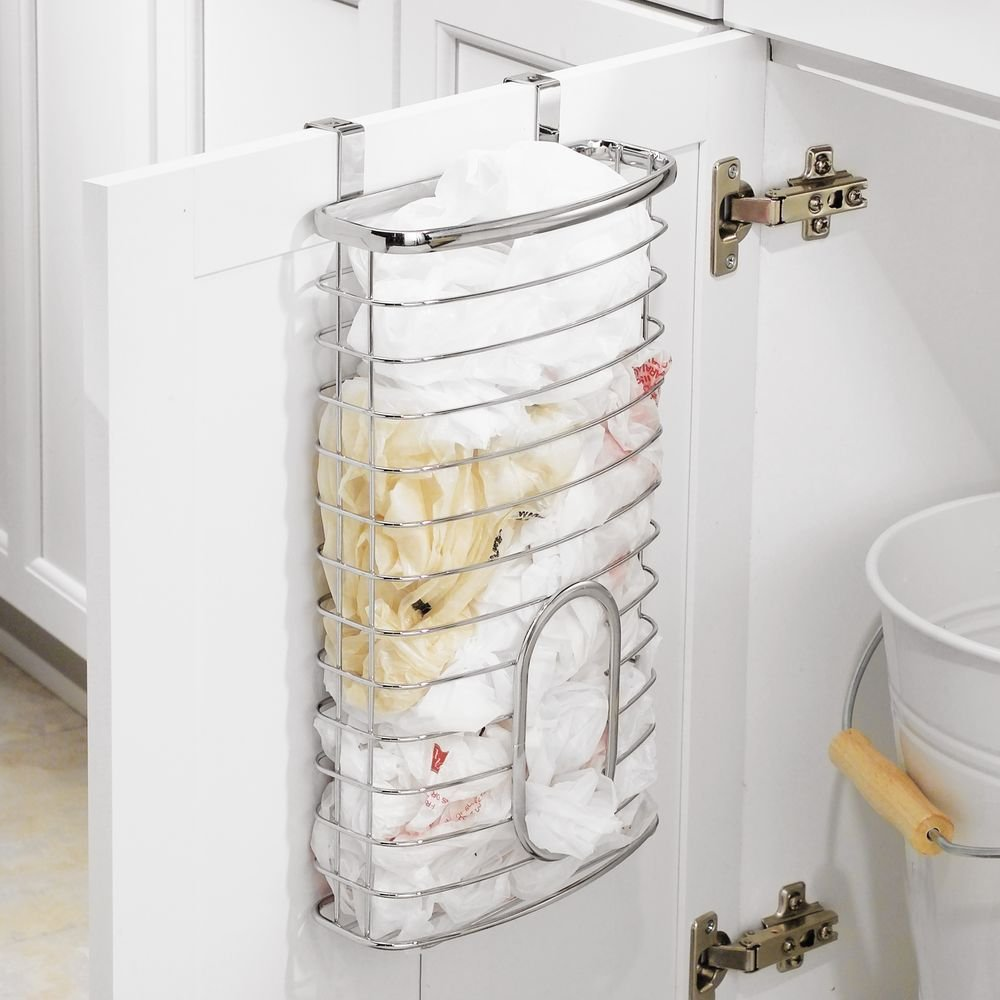 Superbe Amazon.com: InterDesign Axis Over The Cabinet Kitchen Storage Holder For  Plastic And Garbage Bags   Chrome: Home U0026 Kitchen