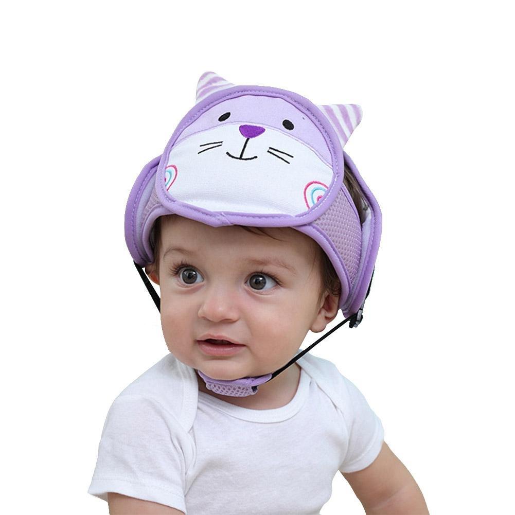 Baby Adjustable Safety Helmet Shatter-Resistant Anti-Crash Toddler Safety Helmet, Circumference 42-62 cm (3 Colors) Softwind