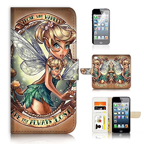 (( For iPhone 8 / iphone 7 ) Flip Wallet Case Cover & Screen Protector Bundle - A21066 TinkerBell)