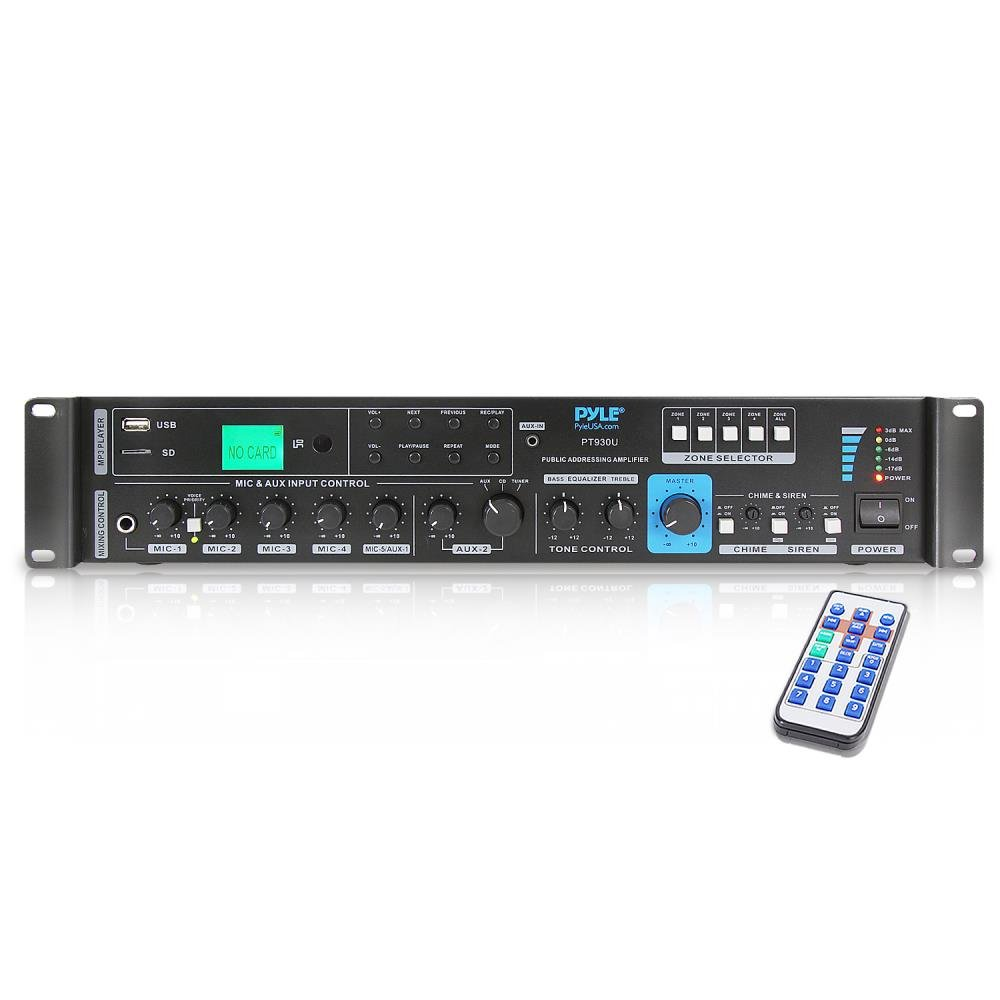 70v System Audio Power Amplifier 700w Rack Mount High Impedance Input Hi Fi Tone Control Portable Home Stereo Sound Receiver Mixer W 100v Speaker Output Rca Aux In Usb