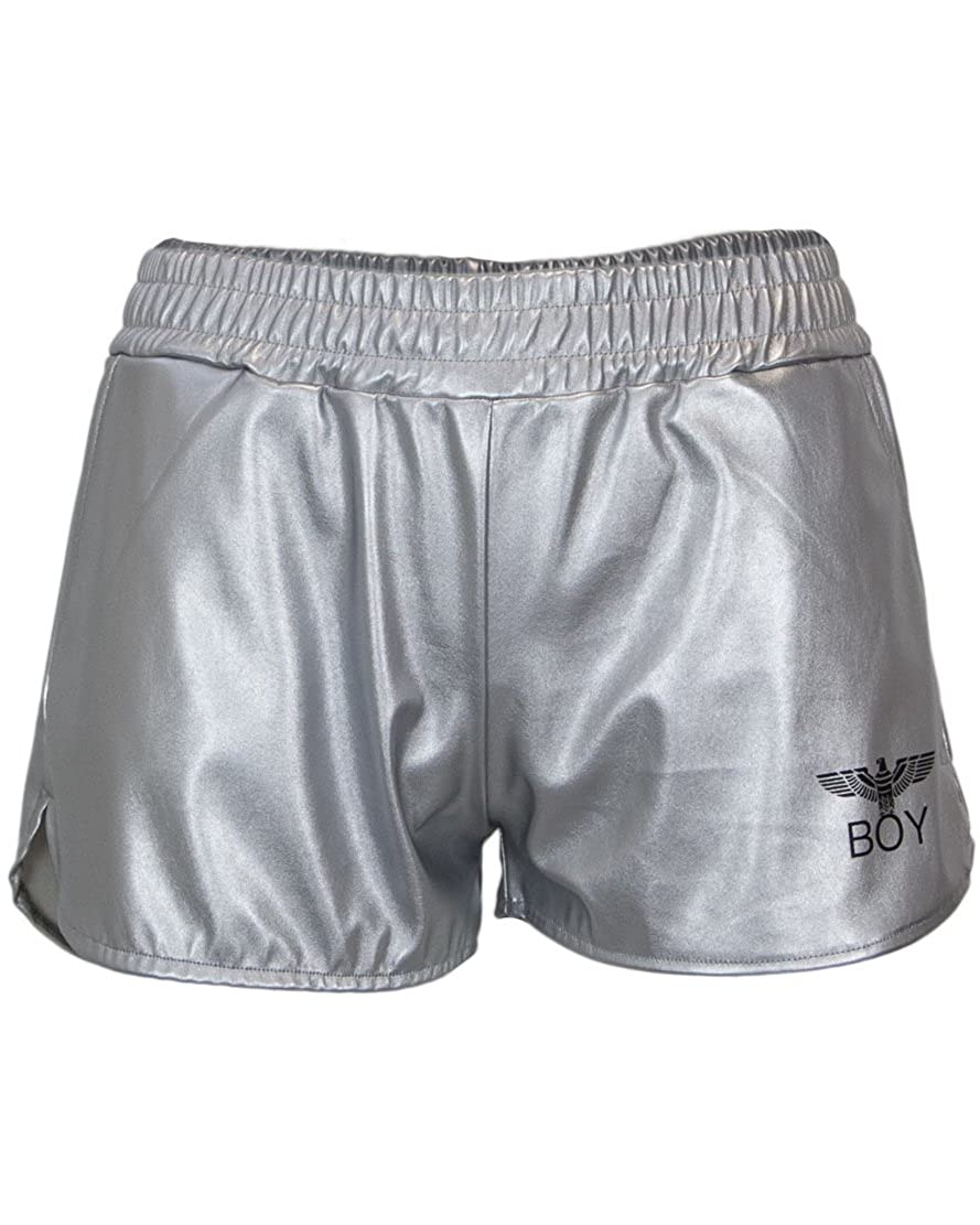 BOY LONDON ITALIA BL 1131 SHORTS ECOPELLE + STAMPA ARGENTO)