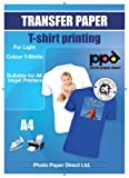 Carta da stampa per magliette - A4 - trasferimento dell'immagine su maglie col ferro da stiro x 20 fogli - per magliette chiare