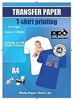 A4 Inkjet Iron On Transfers Paper / T Shirt Transfers - Light T Shirt x 20 Sheets