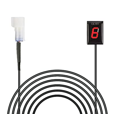 Idea Waterproof Motorcycle Gear Indicator Plug & Play LED Display for Kawasaki (Red): Automotive