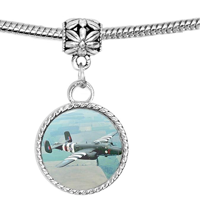 B25 Mitchell segunda guerra mundial avión encanto pulsera: Amazon.es: Joyería