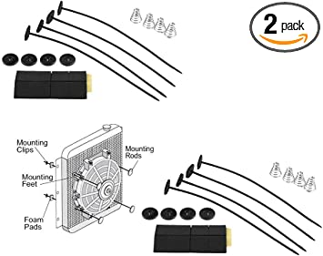 Universal Radiator Fan Mount//Mounting Kit Zip Ties//Foam
